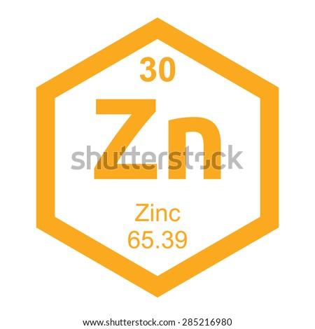 Periodic table Zinc - stock vector