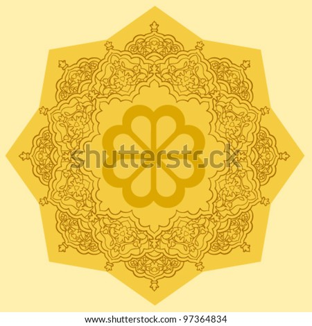 persian floral pattern - stock vector