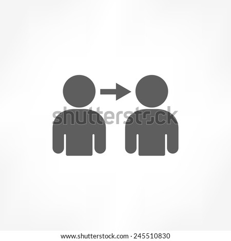 person connect icon - stock vector