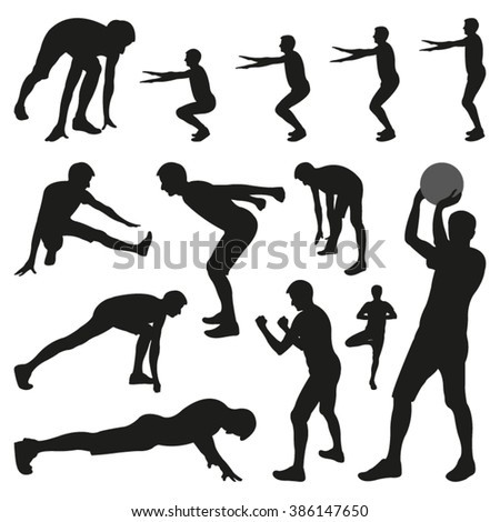 Person Doing Sports Exercises