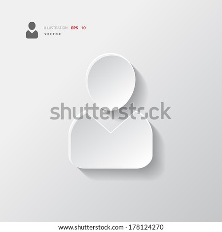 Person icon. - stock vector
