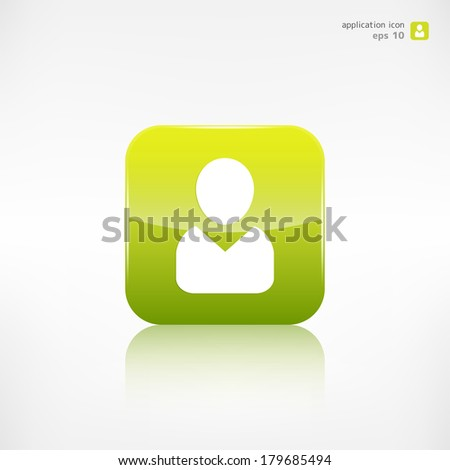 Person icon. Application button. - stock vector