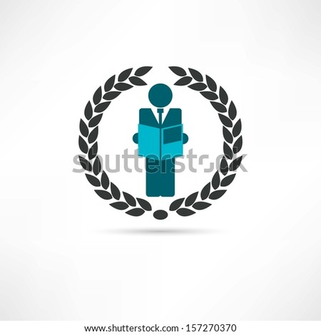 Person of business icon - stock vector