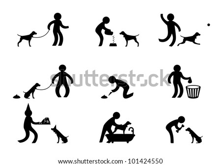 Person playing with dog