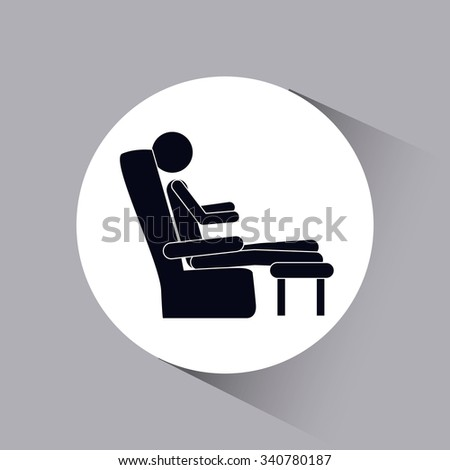 person resting design, vector illustration eps10 graphic