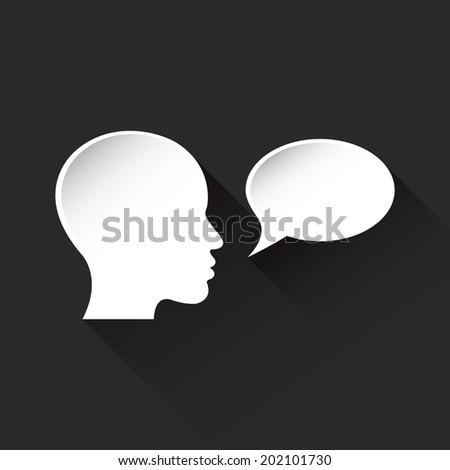 person says it monologue human head vector - stock vector