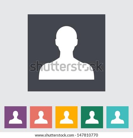Person single flat icon. Vector illustration. - stock vector