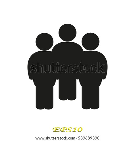 person user, people, icon vector illustration EPS 10