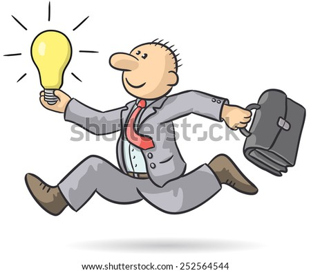 person with an idea - stock vector