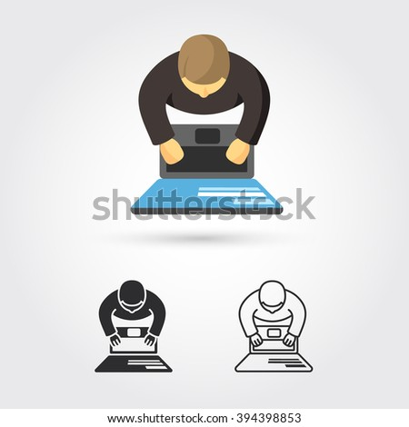 person working on computer