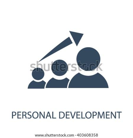 personal development icon  - stock vector