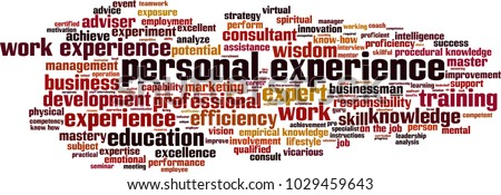 experience personal word vector cloud concept shutterstock leader development future display