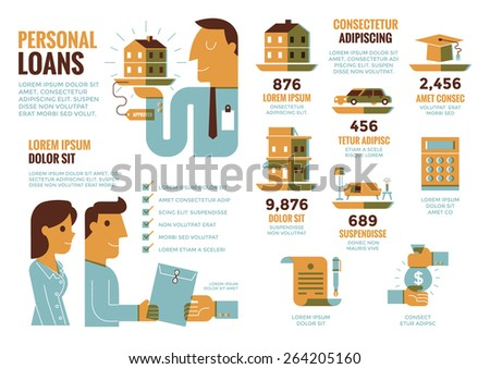 Personal Loans Infographics - stock vector