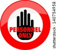 Personal Only, sticker - stock vector