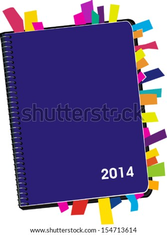 Personal Organizer 2014 - stock vector