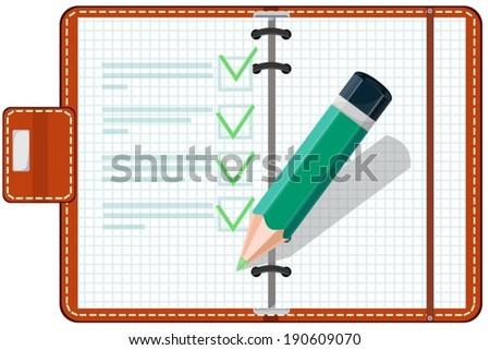 Personal Organizer - stock vector