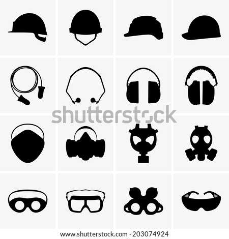 Personal protective equipment - stock vector