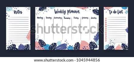 personal weekly planner week days sheet stock vector royalty free