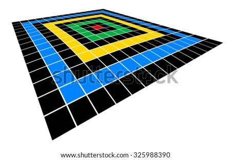 Perspective color figure - stock vector
