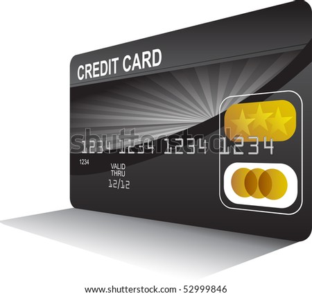 Perspective Credit Card - stock vector