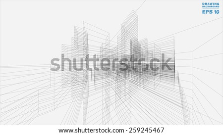 Architecture Blueprints 3d architectural drawing stock images, royalty-free images & vectors