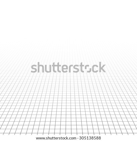 Perspective grid surface. Vector illustration.  - stock vector