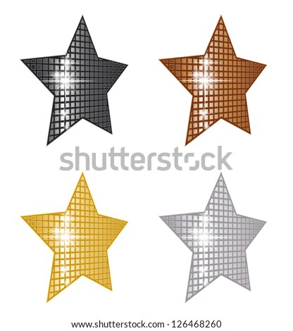 Perspective Stars - stock vector