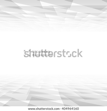 Perspective Triangle Abstract Background with copyspace. Lowpoly Trendy Vector Illustration.