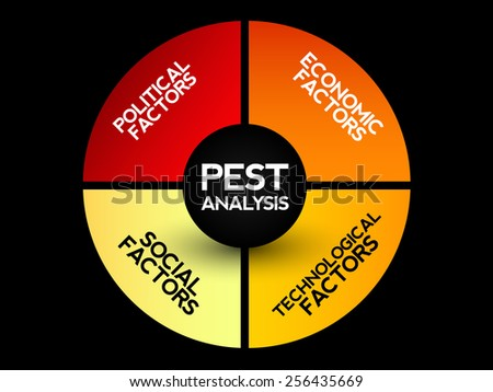 Pest Analysis Strategy Diagram Business Concept Stock Vector