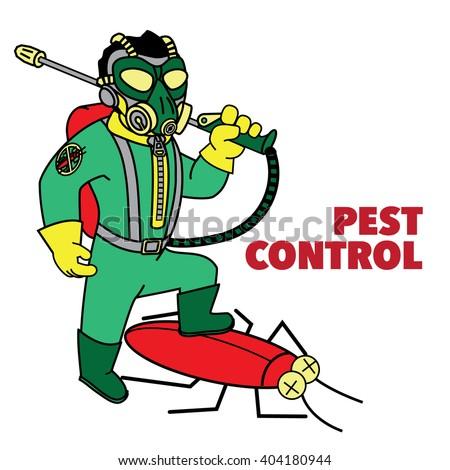 Pest Control Exterminator. Vector - stock vector