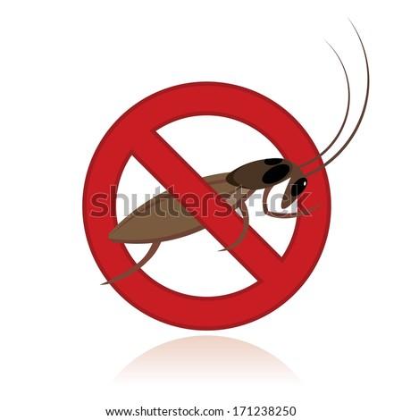 pest control, insect repellent emblem  - stock vector