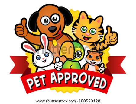 Pet Approved Seal - stock vector