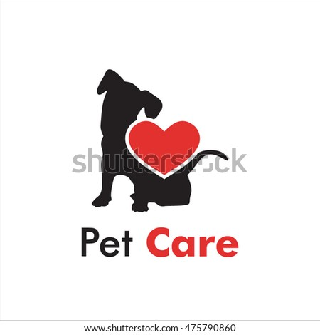 pet care logo template, vector illustration concept for animal business services