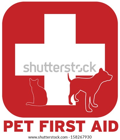 Pet First Aid - stock vector