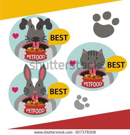 Pet food - stock vector