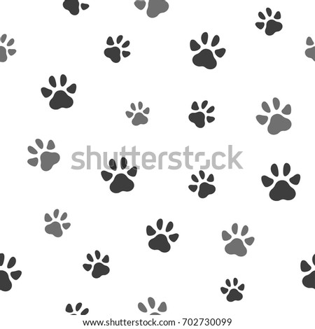 Pet Paw Seamless Pattern Icon Animal Stock Vector 702730099 ...