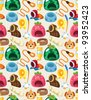 pet tool seamless pattern - stock vector
