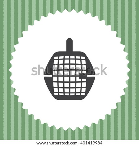 Pet Transport Cage vector icon