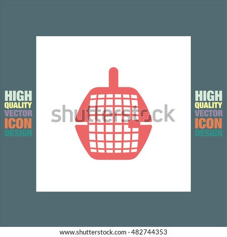 Pet transport cage vector icon. Dog or cat box sign. Animal cage trap symbol