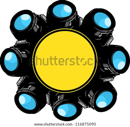 petals photo - stock vector