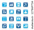 Petrol and oil industry icons - vector icon set - stock photo