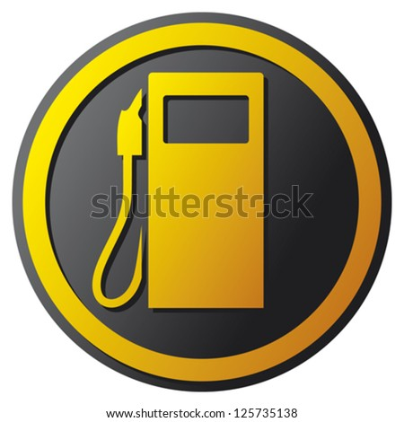 petrol station icon (gas station symbol) - stock vector