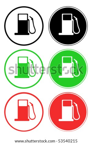 Petrol station symbol - eps 10 - stock vector