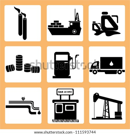 petroleum business, oil and gas - stock vector