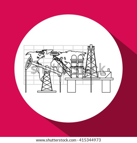 Petroleum design, economy and oil  industry concept, vector illustration