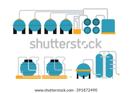 Petroleum oil gas storing container and energy oil gas metal storing vector