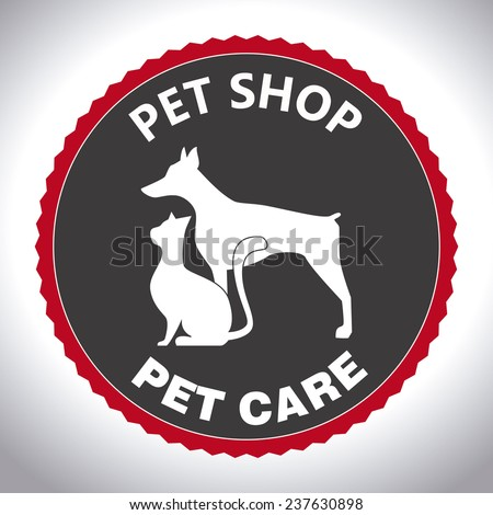Pets design over white background,vector illustration.