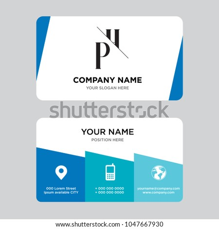 Phhp business card design template visiting stock vector hd royalty phhp business card design template visiting for your company modern creative and reheart Gallery