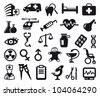 Pharma and Healthcare icons - stock photo