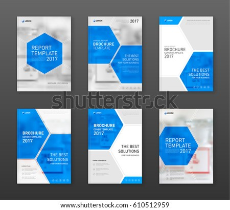 Pharmaceutical brochure cover templates set applicable for Drug brochure template